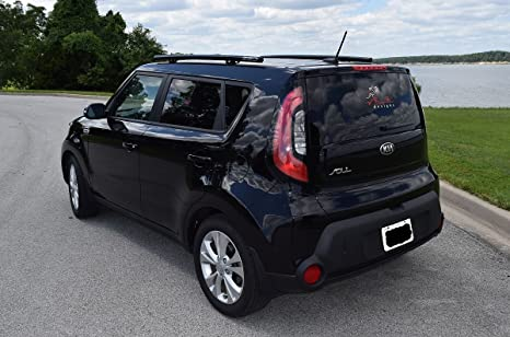 Amazon fits 2015 kia soul hybrid roof rails black side rails amazon fits 2015 kia soul hybrid roof rails black side rails powder coated stainless steel custom fit by ssd performance automotive publicscrutiny Images