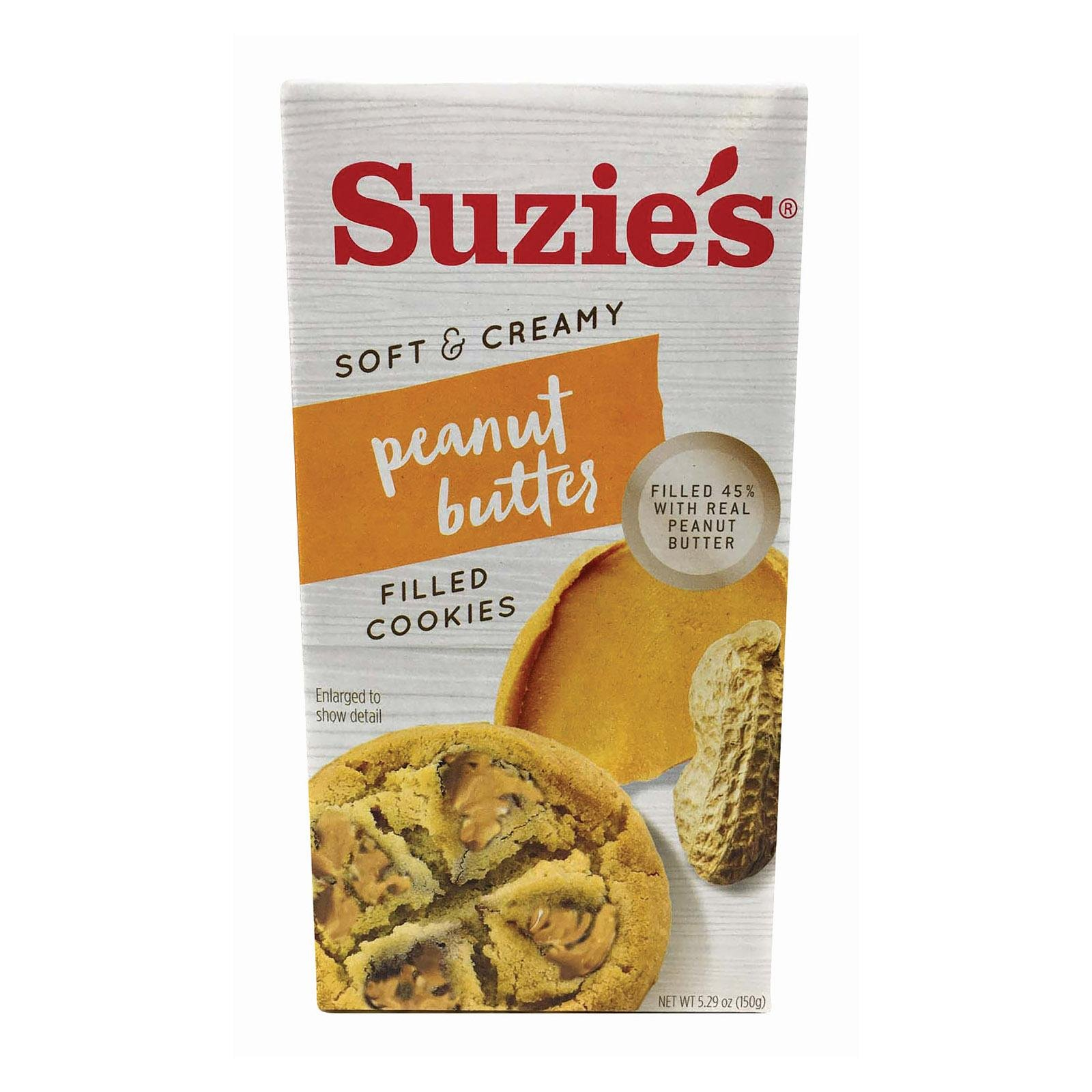 Suzie's Peanut Butter Filled Cookie case of 12 packages 5.29 oz. each