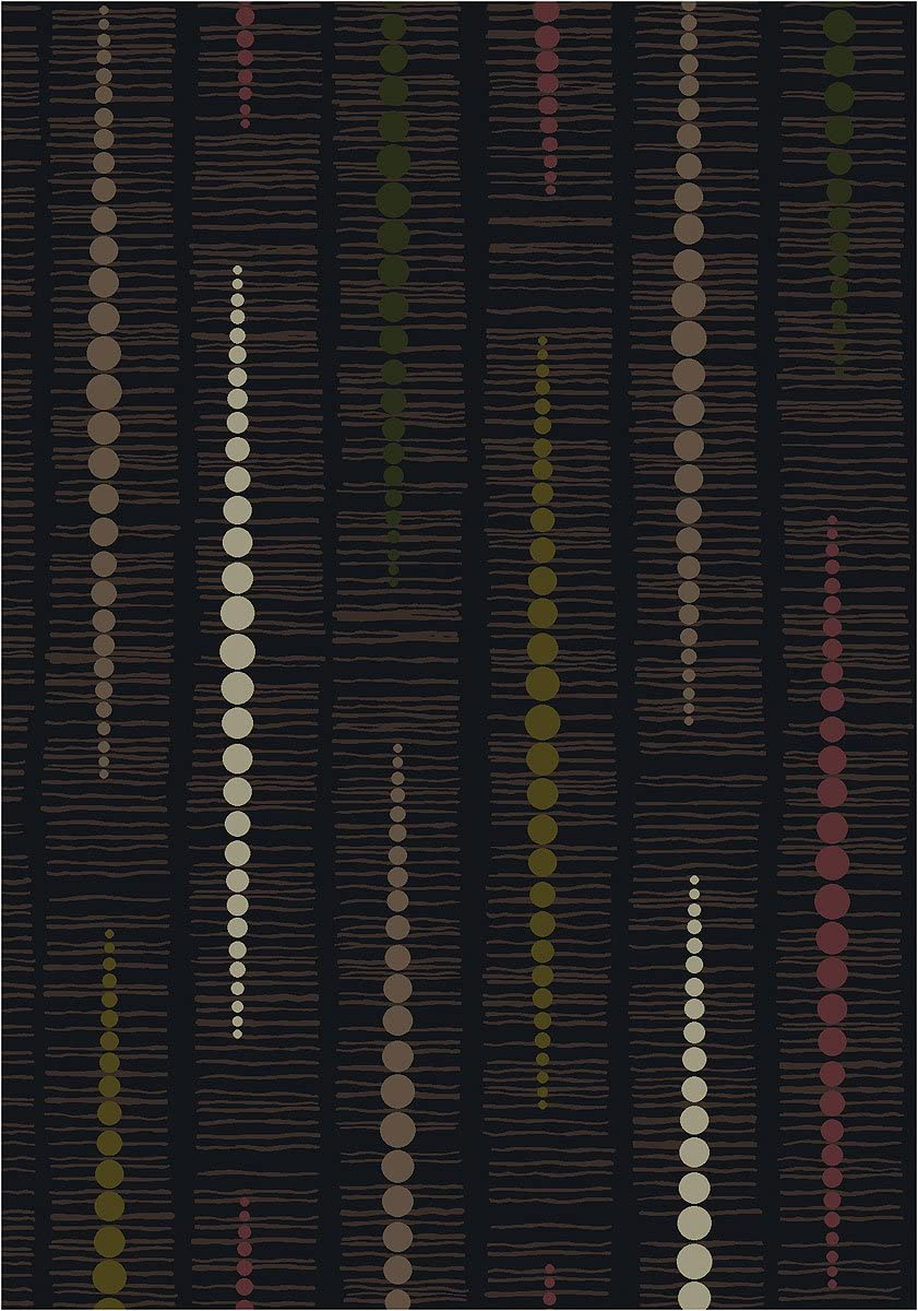 Milliken TOP 30 Reflection Area Rug Ebony 7 8 x10 9 Rectangle Nylon Black
