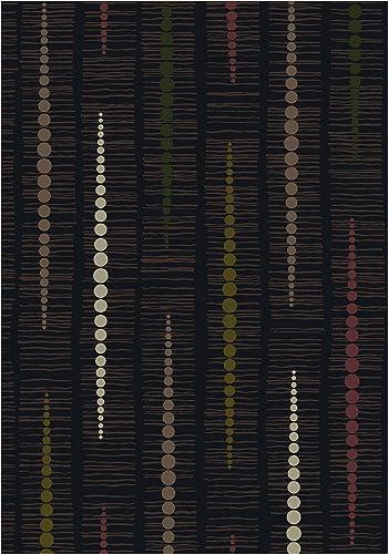 Milliken TOP 30 Reflection Area Rug Ebony/7'8″ x10'9/Rectangle/Nylon/Black