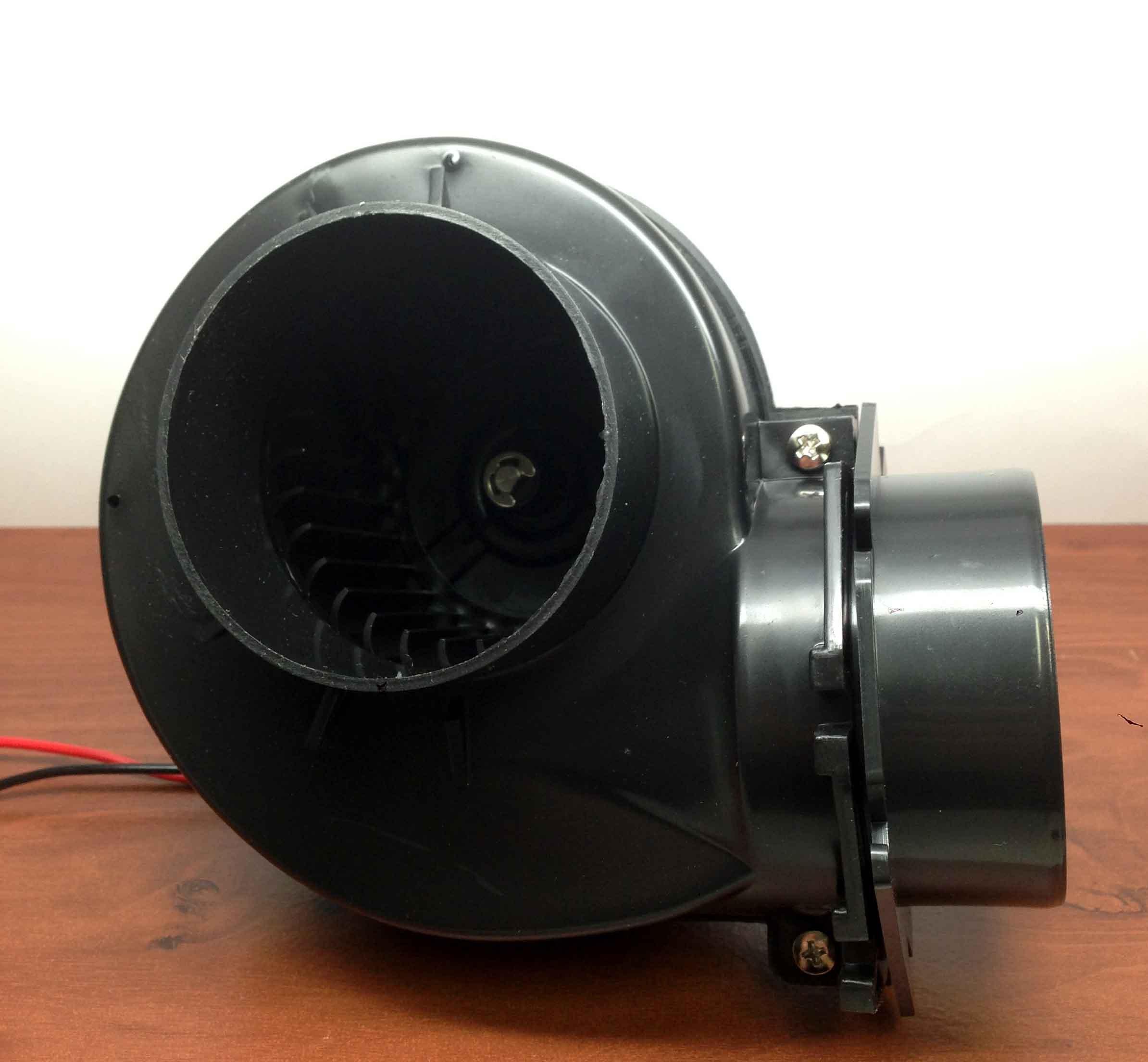 MARINE GRADE PLASTIC BILGE BLOWER 99 CuFt/Min 12VDC 3'' OPENING FLANGE MOUNT