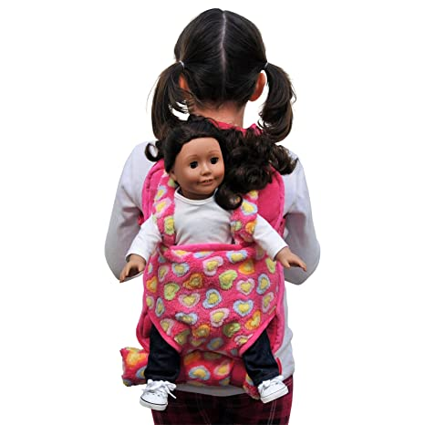 1704a0bed767 Image Unavailable. Image not available for. Color  The Queen s Treasures  Pink aby Doll Backpack Carrier and Sleeping Bag for 18 ...