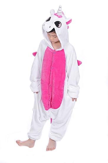 Kinder Mädchen Jungen Pyjamas Kigurumi Nachtwäsche Schlafanzug Cosplay Tier Suit
