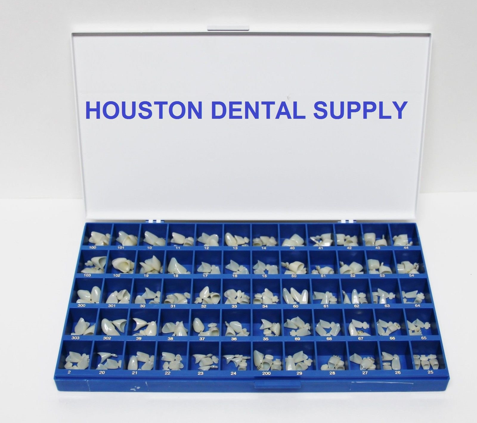 Polycarbonate Temporary Dental Crowns Box Kit 180 Pcs With Paper Guide Chart US SELLER HOUSTON DENTAL SUPPLY