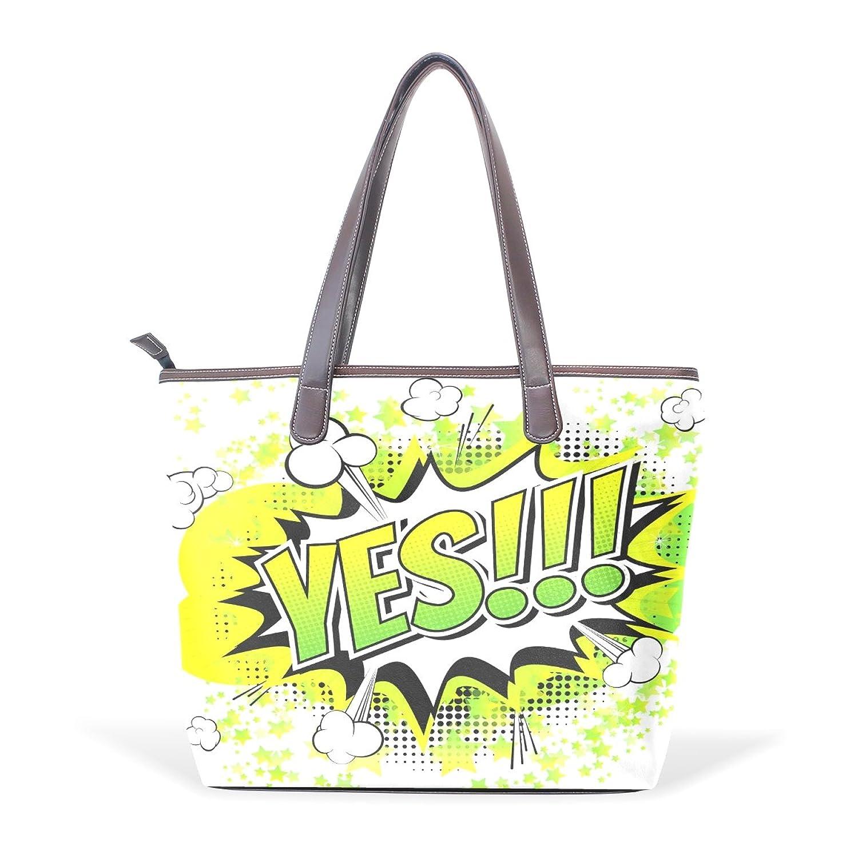 WDYSECRET Text Art Women's Pu Leather Handbag Shoulder Bag Zipper Shopping Bag