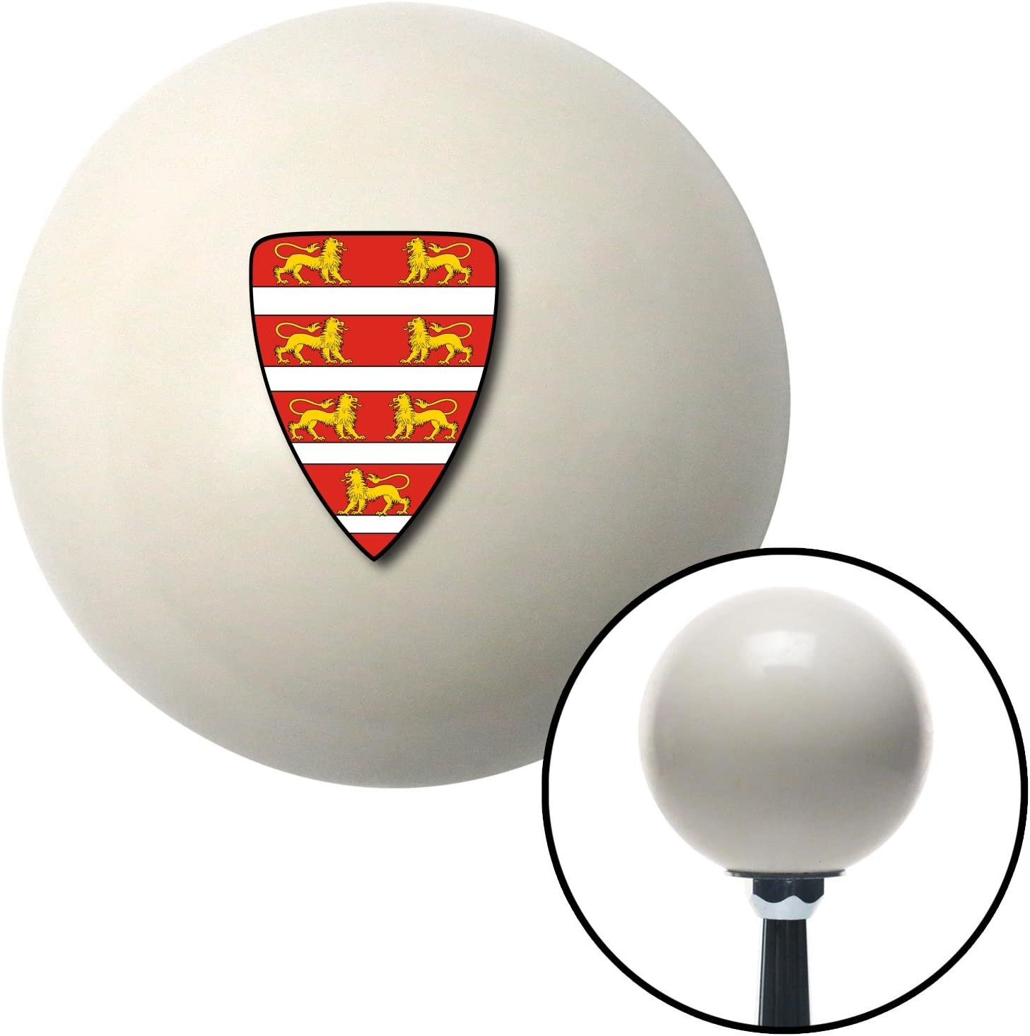 Lions Coat of Arms American Shifter 76118 Ivory Shift Knob with M16 x 1.5 Insert