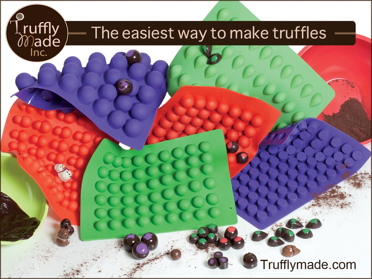 Truffly Made. Mini Cheesecake Round Chocolate Truffle, Jelly and Candy Mold, 88 cavities, One step candy pop-out by Truffly Made (Image #3)