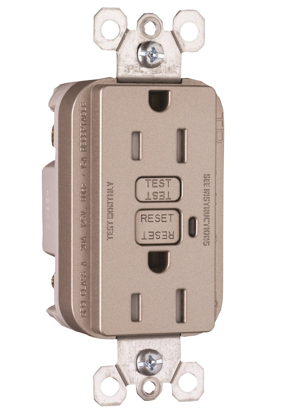 Pass & Seymour 1595TRNICC4 Gfci Receptacle, 15-Amp, 125-volt, Nickel