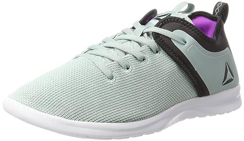 Bs7756, Zapatillas de Deporte para Mujer, Gris (Seaside Grey/Coal/Vicious Violet/White), 38 EU Reebok