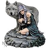 "Anne Stokes ""protector"" Wolf Fantasy Art Edición limitada figura decorativa"