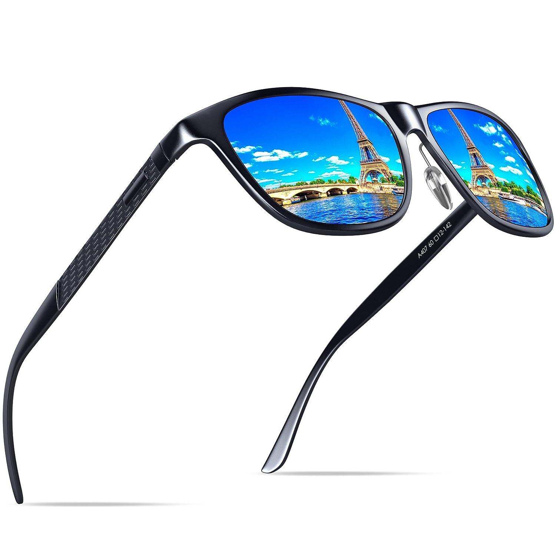 KITHDIA Hombre Gafas de sol Polarizado Al-Mg Metal Super Ligero Marco