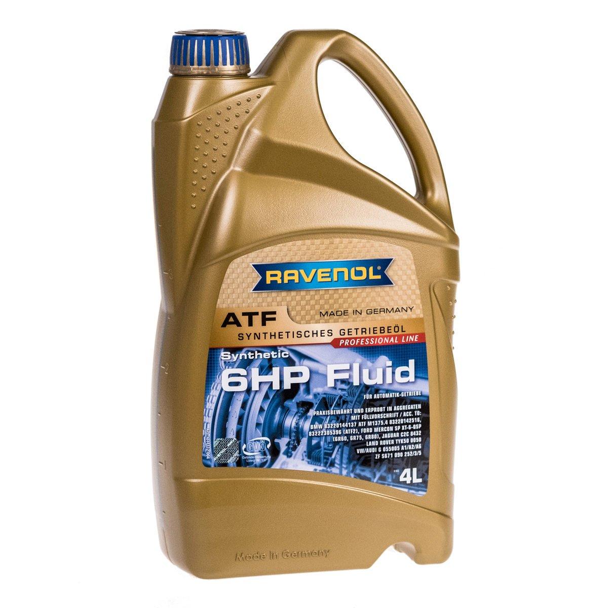 Ravenol J1D2110-004 ATF (Automatic Transmission Fluid) - 6HP Fluid for ZF 6HP Transmissions (4 Liter)