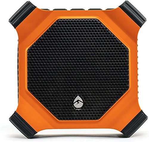 ECOXGEAR EcoDrift Rugged Waterproof Wireless Bluetooth Speaker with Integrated Siri Google Voice Control – Orange Renewed