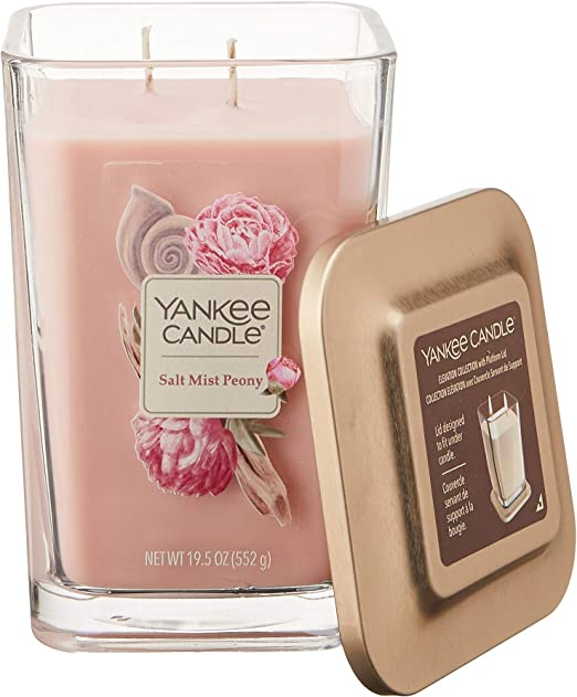 Yankee Candle Elevation Collection with Platform Lid Frosted Fir Scented Candle Large 2-Wick 80 Hour Burn Time