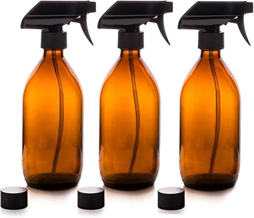 Nomara Organics Vaporizador en Botella de Cristal Ámbar Set 500 mL ...