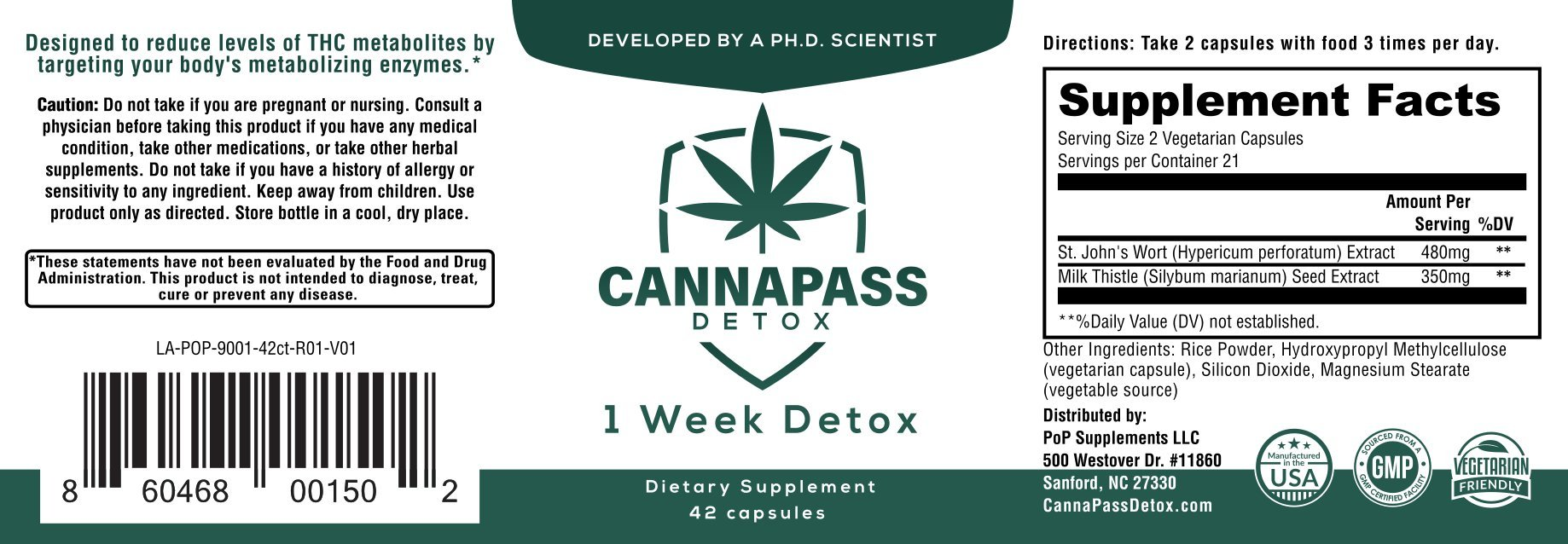 CannaPass THC Detox - 1 Week Supply by CannaPass Detox