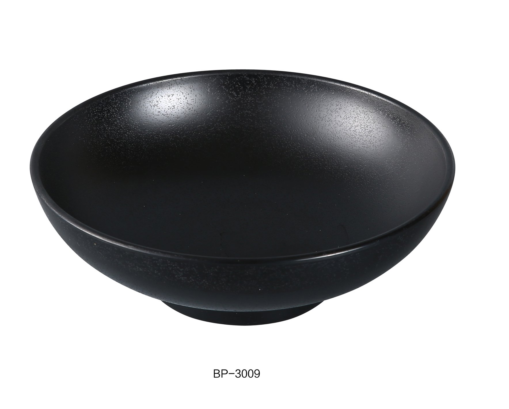 Yanco Asian Style Black Pearl Melamine with Matting Surface 9'' X 3 1/4'' NOODLE BOWL 48 OZ box of 24