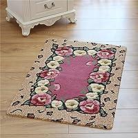 Woven carpet 50 * 80cm Roses Into The Door Entrance Hall Kitchen Bedroom Mattresses Mat Toilet Water Non-Slip Floor Mats…