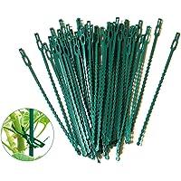 auvstar 100 piezas Fijación Reutilizable para Plantas, Lazos