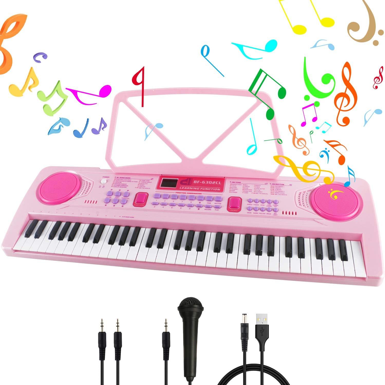 Teclado Piano 61 Teclas,Piano Digital Teclado de Piano Portátil ...
