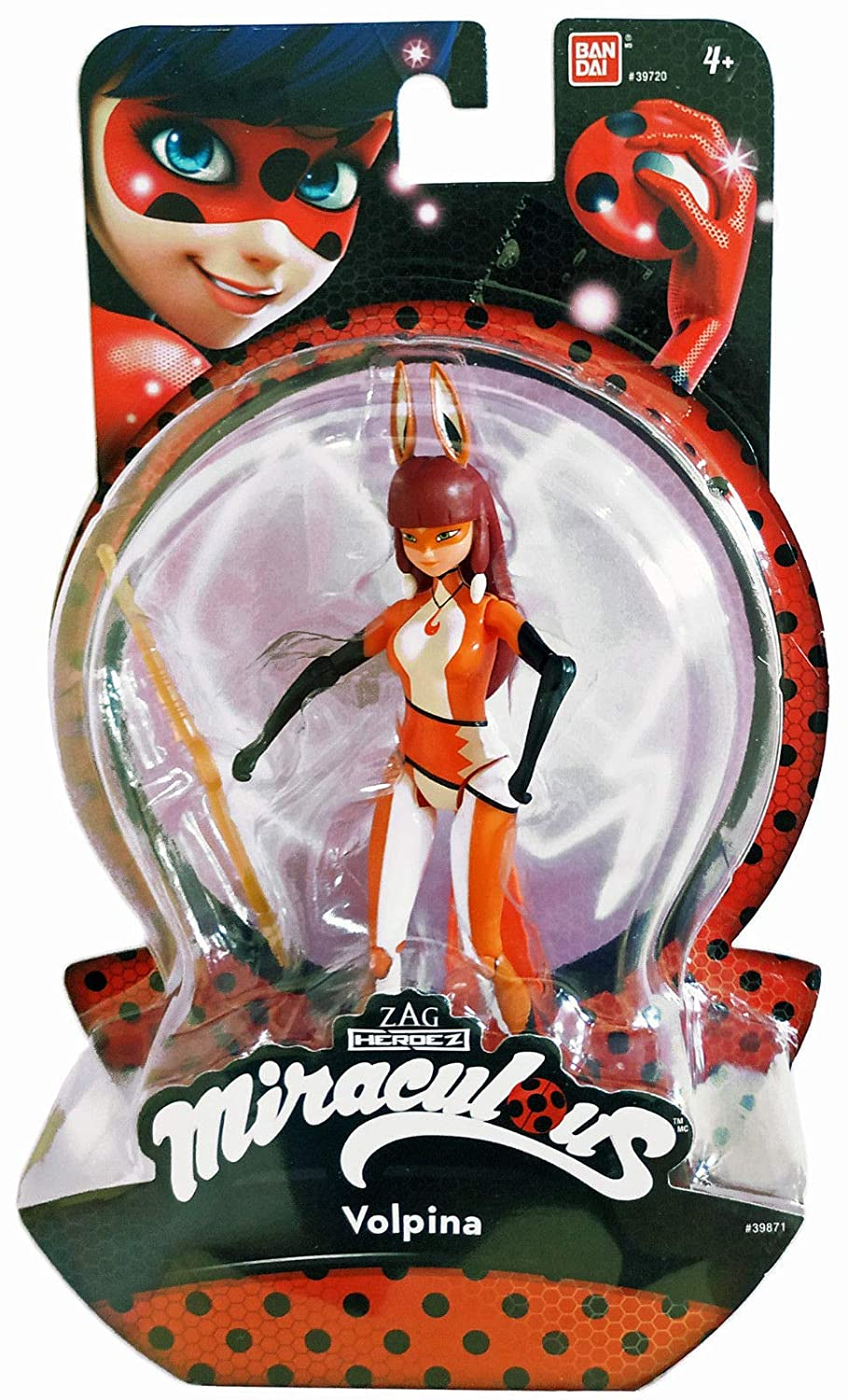 Miraculous 5.5-Inch Volpina Action Doll Bandai America Incorporated 39871