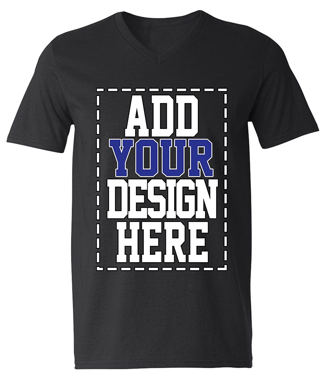 d2c6f5a2e Amazon.com: Custom V Neck T Shirts for Men - Make Your OWN Shirt - Add Your  Design Picture Photo Text Printing: Clothing