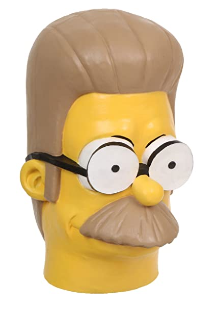 Amazon.com: FunCostumes Ned Flanders Mask Standard: Clothing