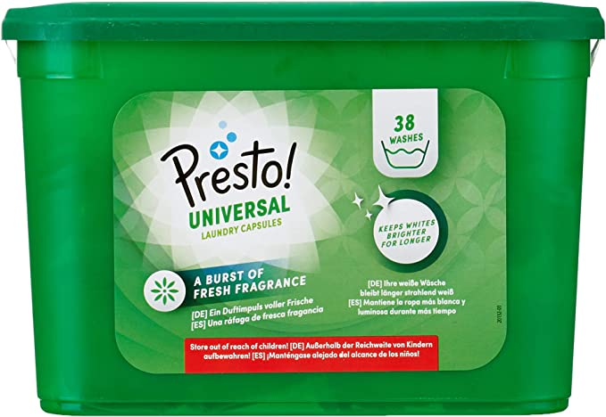 Marca Amazon - Presto! Detergente universal en cápsulas, 152 ...