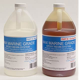 MAX MARINE GRADE Epoxy Resin System   1 Gallon Kit   Wood Sealing, High  Strength