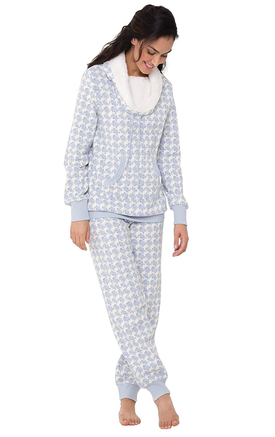040d5410f6b2 PajamaGram Soft Fleece Pajamas Women - Womens Pajama Sets at Amazon Women s  Clothing store