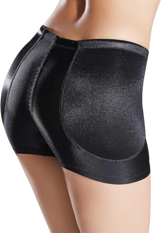 Defitshape Damen Gepolsterte Nahtlose Shapewear Panty Hip Enhancer Unterw/äsche Shaper Shorts