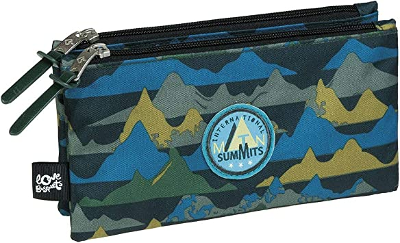 Estuche Escolar Triple Summits by BUSQUETS: Amazon.es: Equipaje