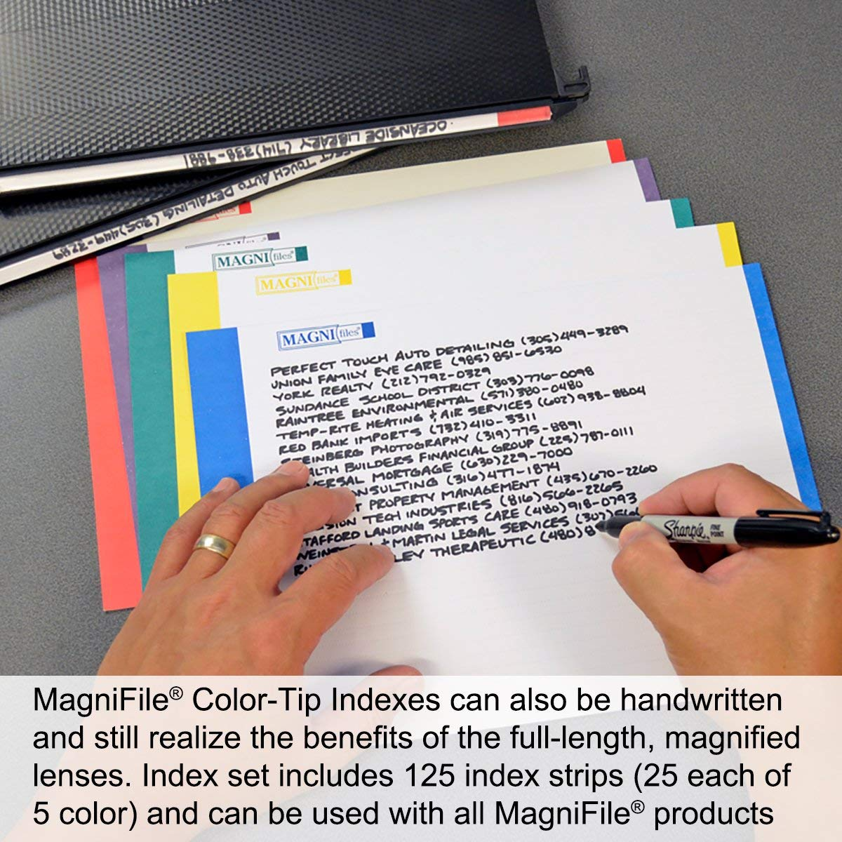 Ultimate Office MagniFile High-Capacity Hanging File Folders Set of 2 5 inch Expanding Files with Silicone Rubber Gussets and Sewn Nylon Edges