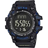 Sports Watches for Men Outdoor Digital Watch Waterproof Tactical Watch Big Dial Wrist Watch with Rubber Band