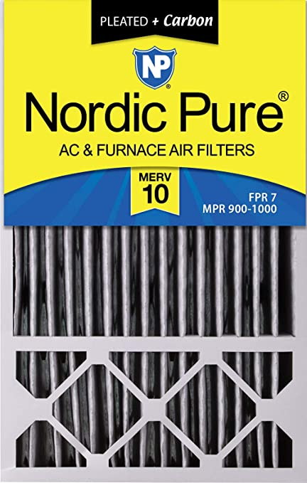 Nordic Pure 10x25x1 MERV 8 Pleated AC Furnace Air Filters 3 Pack
