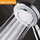 Shower Head,Universal Bath Shower High Pressure Water Saving 3 Mode Function Spray Handheld Showerheads for Dry Skin & Hair by Nosame