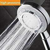 Nosame® Shower Head,Universal Bath Shower Water Saving High Pressure 3 Mode Function Spray Showerheads for Dry Skin & Hair
