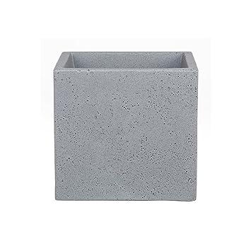 Scheurich C Cube Pflanzgefäß Aus Kunststoff Stony Grey 40 Cm Lang