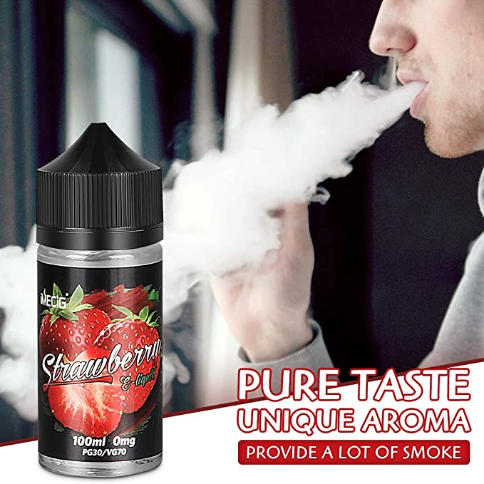 IMECIG Líquido E para cigarrillos electrónicos, líquido de fresa Vape100ml, humo fresco y grande, sin nicotina: Amazon.es: Salud y cuidado personal