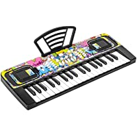 M SANMERSEN Piano Keyboard for Kids, Piano for Kids Music Keyboards 37 Keys Electronic Pianos with Music Book Bracket…
