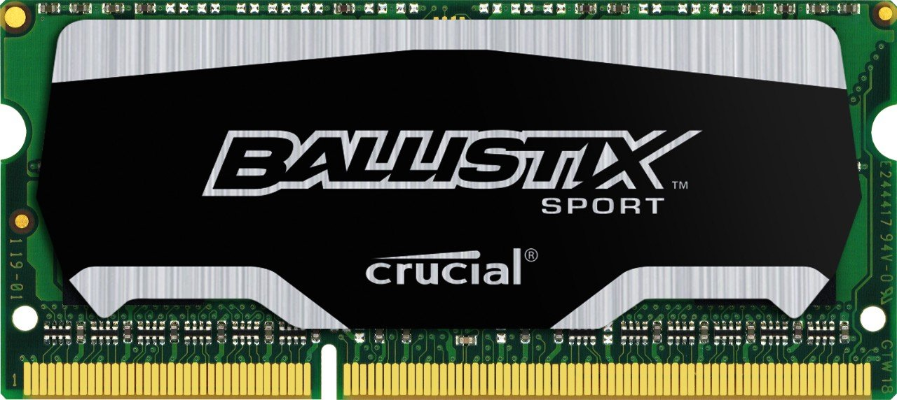 Crucial Ballistix Sport SODIMM 4GB Single DDR3 1600 MT/s (PC3-12800) CL9 @1.35V 204-Pin Memory BLS4G3N169ES4