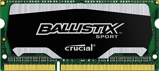 18 opinioni per Ballistix Sport Memoria da 4 GB, DDR3, 1600 MT/s (PC3-12800), SODIMM 204-Pin-