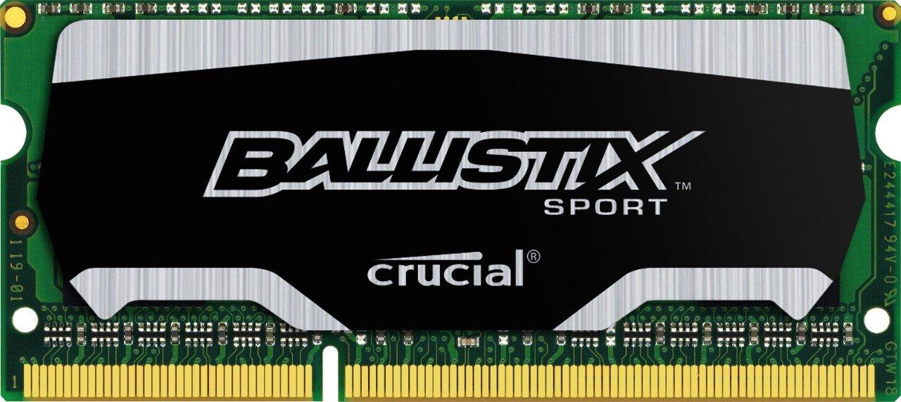 Ballistix Sport SODIMM 8GB Kit 4GBx2 DDR3 1600 MT/s PC3-12800 CL9 at 1.35V 204-Pin Memory BLS2K4G3N169ES4
