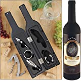 Wine Tool Set - Novelty Bottle-Shaped Holder Perfect Hostess Gift (1)
