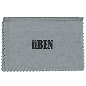 UBEN Large Jewelry Polishing Cleaning Cloth for Gold, Silver, Platinum 11x14 Grey/White Cloth