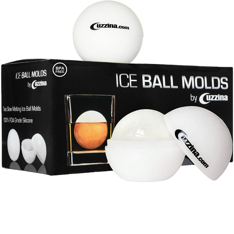 Amazon.com: Ice Ball Maker - Sphere Ice Mold Creates Large 2.5 Inch ...