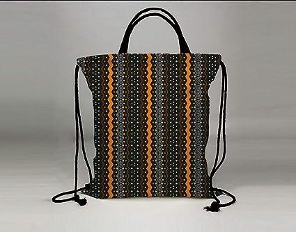 aa8c88632414 Amazon.com  3D Print Drawstring Bag String Backpack