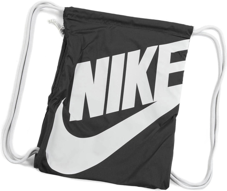 cultura Jane Austen suizo  Amazon.com: Nike Heritage Drawstring Gymsack Backpack 400 Denier Sport  Bookbag (Classic Black with Signature White Swoosh): Clothing