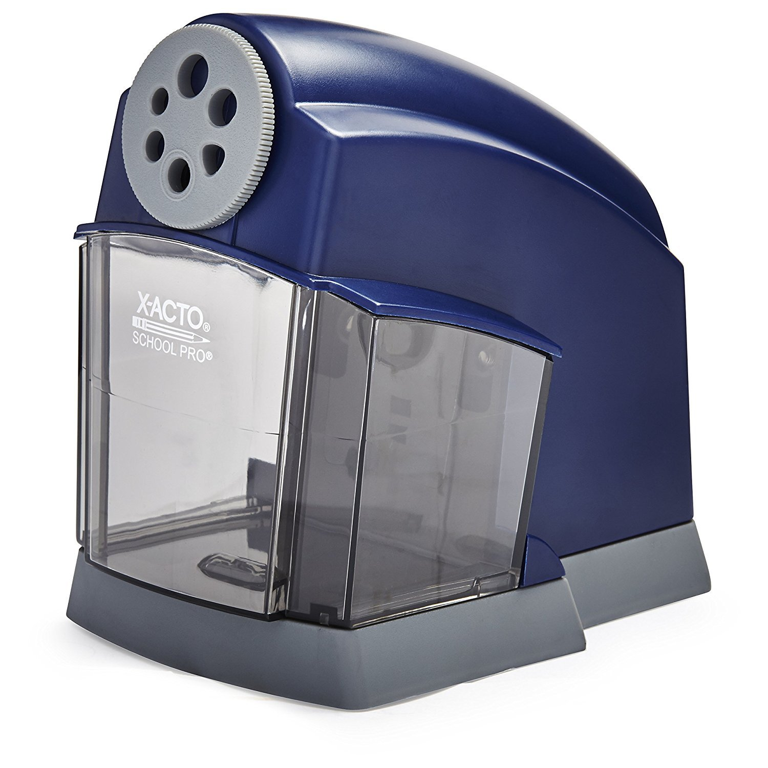 X-ACTO SchoolPro Classroom Electric Pencil Sharpener, Heavy Duty, Blue/Grey, 2 Count