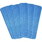 """HOMEE Microfiber Mop Heads, 6 Pack 18""""x 6'' Reusable Microfiber Spray Mop Replacement Heads, Fit for Wet & Dry Home…"""
